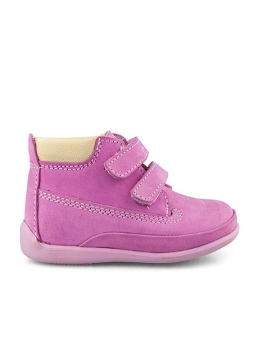 Cici Bebe Ayakkabı Nubuk Kız Çocuk Bot Pembe